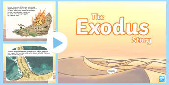 The Exodus Story PowerPoint - exodus, moses, ten commandments, old testament, hebrews, judaism, red sea