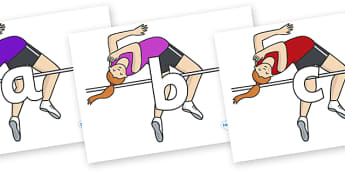 Phoneme Set on High Jump - Phoneme set, phonemes, phoneme, Letters and Sounds, DfES, display, Phase 1, Phase 2, Phase 3, Phase 5, Foundation, Literacy