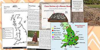 Roman Roads Task Setter and Comprehension Powerpoint Activities