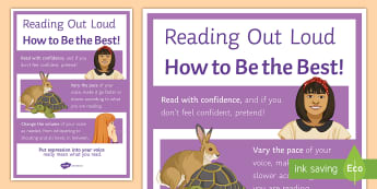 Reading Out Loud A4 Display Poster -  audience, confidence, speaking, aloud