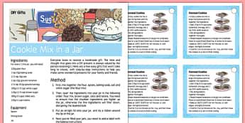 DIY Gifts Cookie Mix in a Jar Recipe