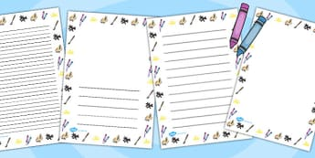 Art Page Borders - Art, arts, page border, border, writing template, writing aid, writing, drawing, painting, sketching, colours