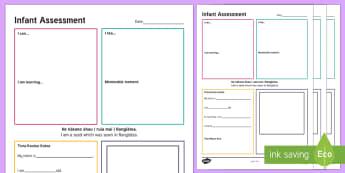 ECE Infant Assessment Template Assessment Template English/Te Reo Māori - New Zealand Back to School, te reo maori, assessment, evaluation, aromatawai, arotake, whakatauki, i