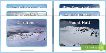 New Zealand Ski Fields Display Photos - New Zealand, Winter, Seasons, Snow, Skiing, Snowboarding, Mountains, Ski Fields, Snow Day