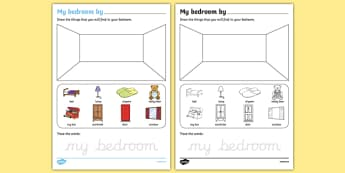My Bedroom Aistear Follow On Worksheet - gaeilge, my bedroom, aistear, follow on