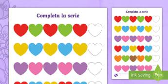Completa la serie: Más colores - Día de la Madre - Día de la Madre, Mother's Day in Spain, series, colorea, sigue la serie y colorea, colores, colour