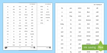 Spelling Zapper Year 1 and 2 Common Exception Words Grid - Spelling Zapper Word Grid Year 3 and 4 Common Exception Words - spelling zapper, spelling, spell, za