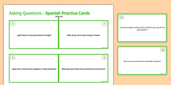 General Conversation Global Issues Question Double Sided Cards Spanish/English