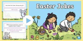Easter Jokes PowerPoint - Easter, joke, pun, funny,