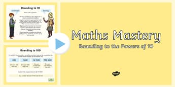 Year 5 Number and Place Value Rounding Maths Mastery PowerPoint