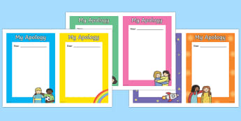 My Apology Letter Writing Frames - my apology letter, letter, apologies, apology, sorry, I am sorry, writing template, writing frames, word cards, flashcards, template