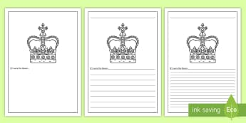 If I Were The Queen Writing Frames - Australia English: The Queen's Birthday, Queen, prompt,Australia