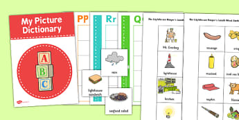 Picture Dictionary and Word Card Set to Support Teaching on The Lighthouse Keeper's Lunch