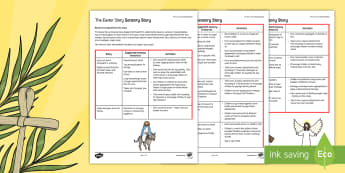 The Easter Story A Sensory Story - easter, SEN, sensory, PMLD, P Scales