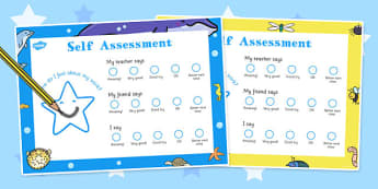 Self Assessment Smiley Face Sheets - self-assessment, smile