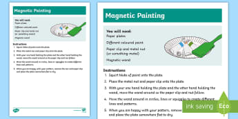 Magnetic Painting Recipe - Magnetic, painting, activity, fun, interactive