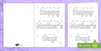 Mother's Day BSL Gift Card Template - BSL Resources, Mother's Day, Mothering Sunday, signing, SSE, fingerspell, deaf