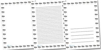 Barrage Balloon Portrait Page Borders- Portrait Page Borders - Page border, border, writing template, writing aid, writing frame, a4 border, template, templates, landscape