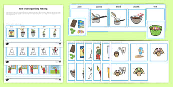 Workstation Pack: Five Step Sequencing Activity Pack