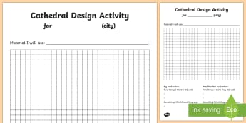 KS1 Cathedral Design Activity Sheet