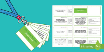 Lanyard-Sized Year Two Measurement Objectives Cards - KS1, year 2, Year Two, mathematical reasoning, numeracy, maths, objectives, measurement, weight, cap