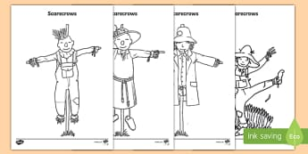 Scarecrow Colouring Pages