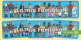 La mia Famiglia Striscione - la, mia, famiglia, striscione, italiano, italian