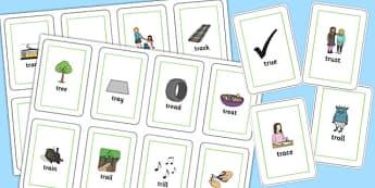 TR Flash Cards - tr, flash cards, flashcards, sen, sound, tr sound