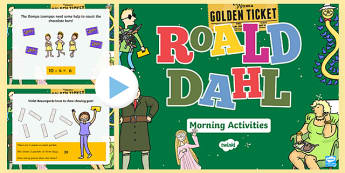 Roald Dahl Themed Year 1 Morning Activities Incidental Welsh PowerPoint - Foundation Phase Profile, Roald Dahl, Numeracy, Welsh Numeracy, Maths Activities.