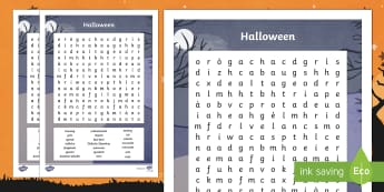 Halloween Word Search Gaelic-Scottish