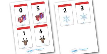 Christmas Number Bonds to 5 Matching Cards - Number Bonds, Matching Cards, Clothing Cards, Number Bonds to 5, Christmas, xmas, tree, advent, nativity, santa, father christmas