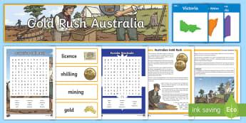 Australian Gold Rush  - gold rush, australia, eureka stockad, history