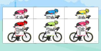 Tour de France Cyclists Ordinal Number Sorting - le tour, order