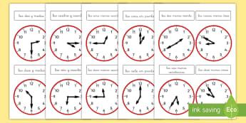 Pack de recursos: Relojes analógicos - reloj analógico, relojes analógicos, reloj, relojes, analógico, la hora, decir la hora, el tiempo