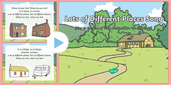 Lots of Different Places Song PowerPoint