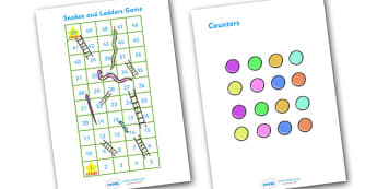 Snakes And Ladders (1-50) - education, home school, child development, children activities, free, kids, math games, worksheets, number work