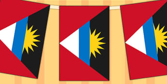 Antigua and Barbuda Flag Display Bunting - commonwealth, display