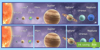 Solar System Planets in Order  - planet order, poster, display