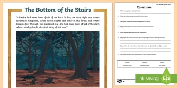 The Bottom of the Stairs Differentiated Reading Comprehension Activity - The Bottom of the Stairs Differentiated Reading Comprehension  Activity, literacy, english, year 3,