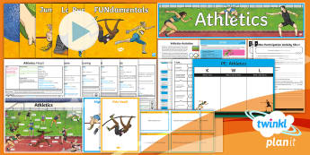 PlanIt - Year 5 PE - Athletics Unit Pack - PE PlanIt Y5 Athletics, sports day, athletics, discus, throwing, year 5, sport, outdoor pe, games.