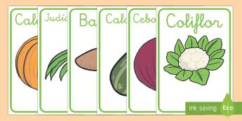 Las verduras Póster DIN A4 - comida, comer, plantas, crecimiento, dieta, alimentación,Spanish
