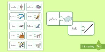 Puzle: La B Puzzle  - lecto, leer, lectura, sonidos, letra , lecto-escritura, fonemas, sonidos, consonantes, letra b, fone