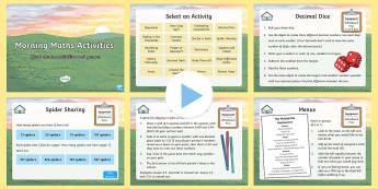 UKS2 Morning Maths Activities PowerPoint - KS2, Maths, games, maths games, maths activities, maths starters, mental starters