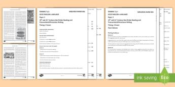 003 English Lang GCSE EDUQAS Style Exam P2 Exam Questions Pack