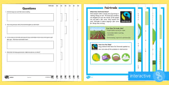 Printables Comprehension Worksheets Early Stage One reading comprehension worksheets primary resources page 1 new fairtrade differentiated go respond activity sheets