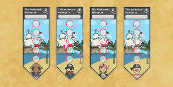 Pirate Sticker Reward Bookmarks (15mm) - Pirate Reward Bookmarks (15mm), pirate, reward bookmarks, bookmarks, reward, 15mm, 15 mm, stickers, twinkl stickers, award, certificate, well done, behaviour management, behaviour, pirate, pirates, ship, islan