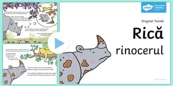 Rică Rinocerul - Poveste PowerPoint  - rică rinocerul, povești, poveste, dezvoltare personală, emoții, ,Romanian