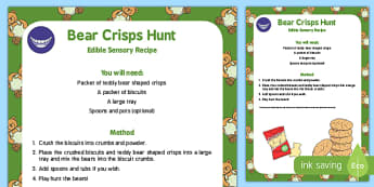 Bear Crisps Hunt Edible Sensory Recipe