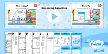 PlanIt Y1 Measurement Lesson Pack - Measurement, measuring, planning, capacity, volume, compare, describe, practical
