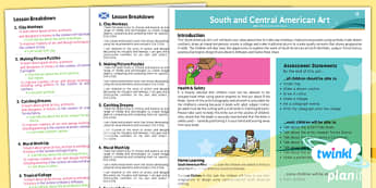 PlanIt - Art UKS2 - South and Central American Art Planning Overview CfE - planit, art, planning, overview, cfe